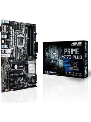 PRIME H270-PLUS | Chipset Intel H270 | Socket 1151 | DDR4 | M2 | PCIE 16X - SATA3 - USB 3.1 A&C - HDMI - ATX | 90MB0S90-M0EAY0